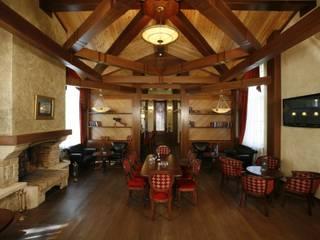 Сигарный клуб Артурс Village Бары и клубы в стиле кантри от дизайн студия 'LusiSarkis ' Кантри