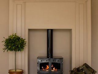 Sophisticated Log Burning Stove UKAA | UK Architectural Antiques Living roomFireplaces & accessories
