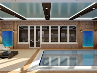 Дизайн бассейна: Бассейн в . Автор – Цунёв_Дизайн. Студия интерьерных решений.