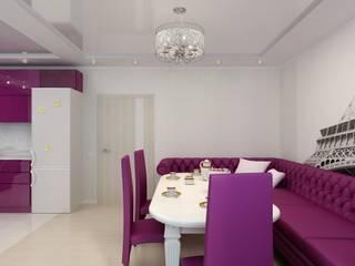 Дизайн кухни-гостиной. г. Буденовск: Гостиная в . Автор – Цунёв_Дизайн. Студия интерьерных решений.