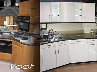 Keuken spuiten in wit ral-9016 zijdeglans.:   door Eurobord Keukenspuiterij en Meubelspuiterij