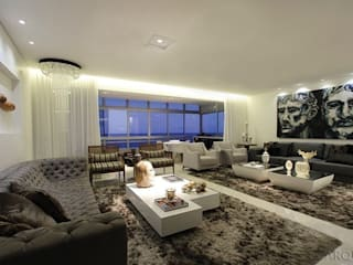 apartamento 290m² : Salas de estar  por Tony Jordão arquitetura e interiores