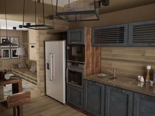 Квартира в стиле лофт (г.Москва) Кухня в стиле лофт от DS Fresco Лофт