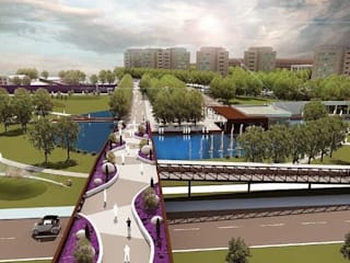 YENIMAHALLE - CAMLICA CITY PARK : LANDSCAPE AND PEDESTRIAN BRIDGE by ON TASARIM LTD. ŞTi.