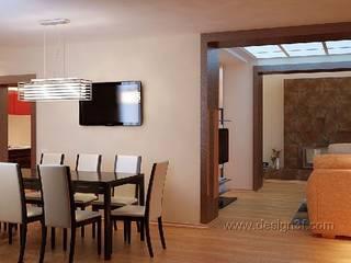 Salle à manger moderne par студия Design3F Moderne