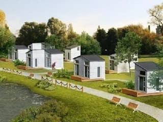 Nomad Micro Home housing sites.: modern Houses by Abodde Housing