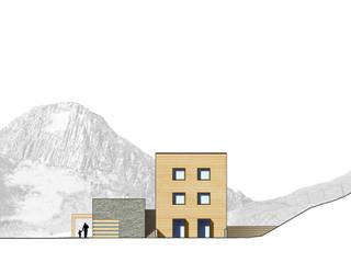 Concorso per la ristrutturazione della Malga Fosse a Passo Rolle, Trento Studio Moretti Case moderne