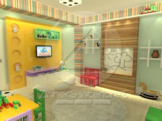 Sala Kids Espaços comerciais modernos por Zinher'S Interiore'S Moderno