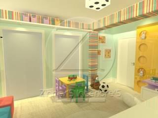 Sala Kids: Espaços comerciais  por Zinher'S Interiore'S,