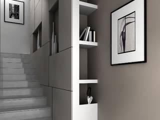 Minimalist corridor, hallway & stairs by maps_architetti Minimalist