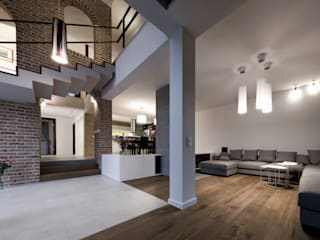 Modern living room by Pracownia Świętego Józefa Modern