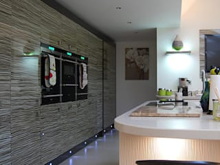 Zebrano bank of units:  Kitchen by Nest Kitchens