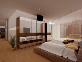 Dormitorios modernos de GodoyArquitectos Moderno