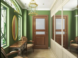 Classic style corridor, hallway and stairs by ИнтеРИВ Classic