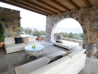 CARLO CHIAPPANI interior designer Balcones y terrazas de estilo mediterráneo