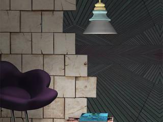 PADO Eklektyczny salon od Grześkiewicz Design Studio Oświetlenie Eklektyczny