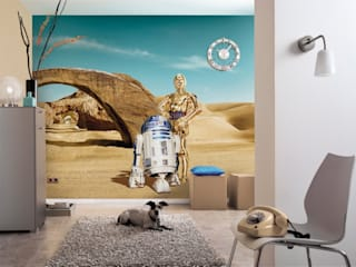 Star Wars Photomural 'Lost Droids' ref 8-484 di Paper Moon Moderno