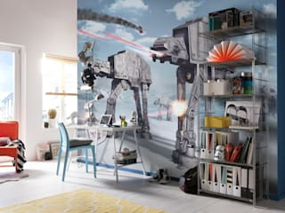 Star Wars Photomural 'Battle of Hoth' ref 8-481 di Paper Moon Moderno