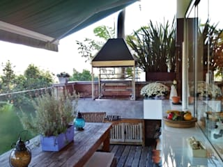 Terrazas de estilo  por Kika Prata Arquitetura e Interiores., Moderno