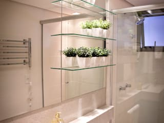 Joana & Manoela Arquitetura ห้องน้ำกระจก