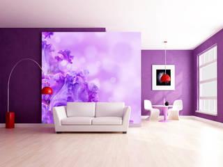 Wohnräume in Violet, lila,pink Trendwände Moderne Wohnzimmer