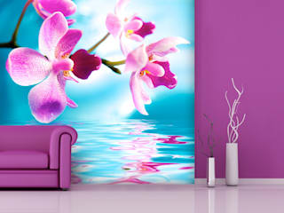 Wohnräume in Violet, lila,pink Moderne Wohnzimmer von Trendwände Modern