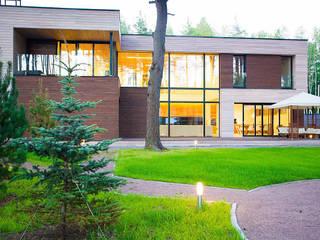 Дом в загородном поселке «Охтинский парк» Дома в скандинавском стиле от ALEXANDER ZHIDKOV ARCHITECT Скандинавский