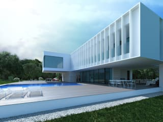 Casas minimalistas de ALEXANDER ZHIDKOV ARCHITECT Minimalista