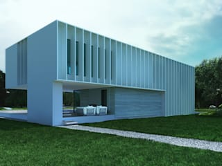 Casas de estilo  por ALEXANDER ZHIDKOV ARCHITECT, Minimalista