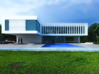 white house Дома в стиле минимализм от ALEXANDER ZHIDKOV ARCHITECT Минимализм