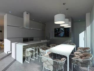 Minimalist kitchen by ALEXANDER ZHIDKOV ARCHITECT Minimalist