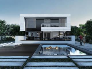 Односемейный жилой дом Дома в стиле минимализм от ALEXANDER ZHIDKOV ARCHITECT Минимализм