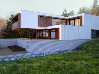 Дом в Днепропетровске Дома в стиле минимализм от ALEXANDER ZHIDKOV ARCHITECT Минимализм