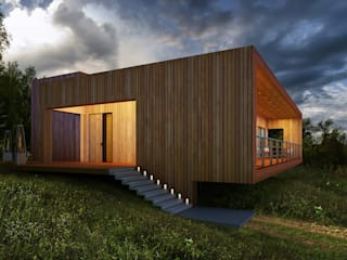 Casas minimalistas por  Aleksandr Zhydkov Architect