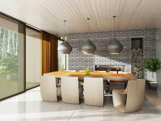 ДОМ В ПОСЕЛКЕ ПОЛИВАНОВО (визуализация) Кухня в скандинавском стиле от ALEXANDER ZHIDKOV ARCHITECT Скандинавский