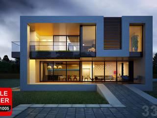 Дом в Подмосковье ALEXANDER ZHIDKOV ARCHITECT Дома в стиле минимализм