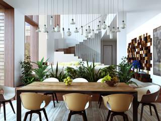 Comedores de estilo escandinavo de ALEXANDER ZHIDKOV ARCHITECT Escandinavo