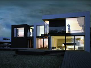 ДОМ ПОД ПАВЛОВСКОМ ALEXANDER ZHIDKOV ARCHITECT Дома в стиле минимализм