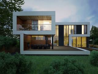 ДОМ В ПОСЕЛКЕ МАРТЕМЬЯНОВО Дома в стиле минимализм от ALEXANDER ZHIDKOV ARCHITECT Минимализм