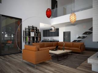 Salas de estar escandinavas por  Aleksandr Zhydkov Architect