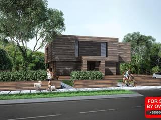дом 270м2 Дома в скандинавском стиле от ALEXANDER ZHIDKOV ARCHITECT Скандинавский
