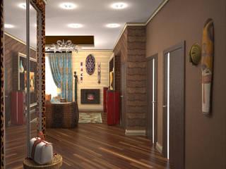 熱帶式走廊,走廊和樓梯 根據 Гурьянова Наталья 熱帶風