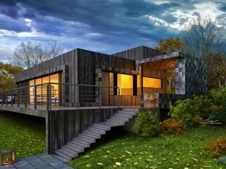 Skandynawskie domy od ALEXANDER ZHIDKOV ARCHITECT Skandynawski