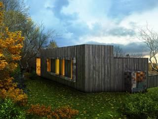 дом на склоне Дома в скандинавском стиле от ALEXANDER ZHIDKOV ARCHITECT Скандинавский