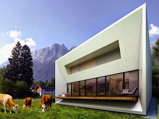 дом в горах Дома в стиле минимализм от ALEXANDER ZHIDKOV ARCHITECT Минимализм