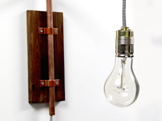Wandlampe industrial Design aus Kupfer:   von KupferKult