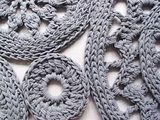 Ręcznie wykonany, dziergany dywan model WIEN od RENATA NEKRASZ art & design Skandynawski
