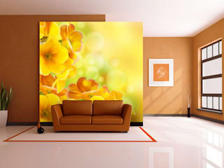 Wohnräume in gelb, orange Moderne Wohnzimmer von Trendwände Modern