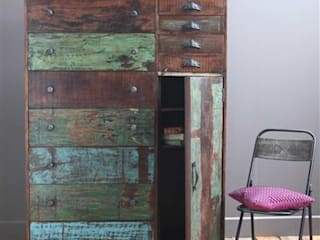 Large Recycled Wooden Chest of Drawers:   by Vintage Archive