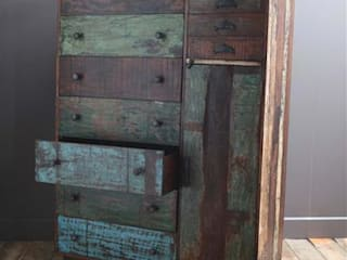 Large Recycled Wooden Chest of Drawers Vintage Archive 家居用品儲藏櫃